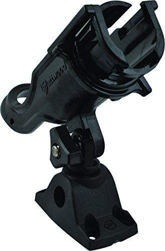 Attwood-5009-4-Heavy-Duty-Adjustable-Rod-Holder-with-Combo-Mount-Black-Finish