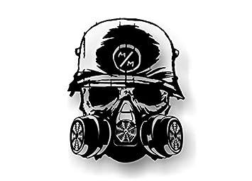 amazon com metal mulisha death squad 6 25 decal fmx race army