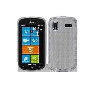 Samsung Focus I917 Clear Transparent Diamond Pattern Tpu / Candy Case