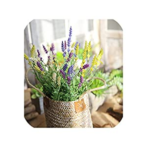 10PCS Fake Flower Wedding Home Decor 3heads Artificial Silk Lavender Plant Grass for Flower Party Home Wedding Decoration 98
