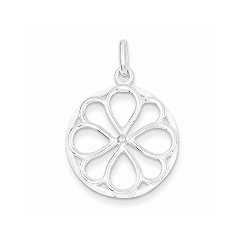 - Jewelry Pendants & Charms Themed Charms Sterling Silver Circle and Flower Pendant