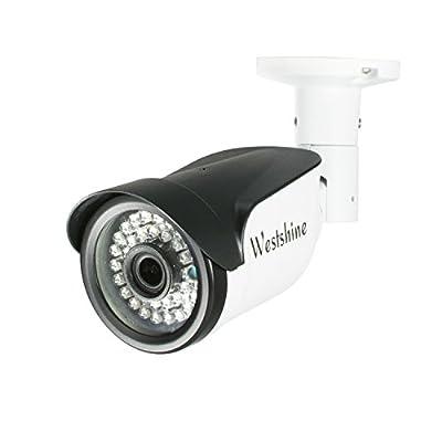 "Westshine Security Bullet Camera 1/4"" Sensor 3.6mm Lens 4-in-1 AHD/TVI/CVI/CVBS Camera with OSD Menu IR Cut 30 LEDs 83ft Night Vision Weatherproof Outdoor Indoor Camera by Westshine"