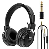 Headphones Stereo Headset Foldable Super Bass Full Sized Over-Ear Earphones for PC Phone by Kmise