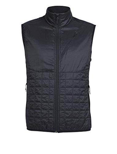(Icebreaker Merino Men's Helix Vest, Black,)