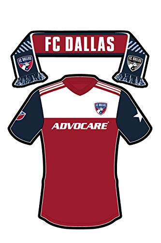 FC Dallas Sticker of The Team Jersey and Scarf. Two Stickers in one. Sticks on Water Bottles, Bumpers, Laptops, All-Weather & Waterproof. Major League Soccer (MLS)