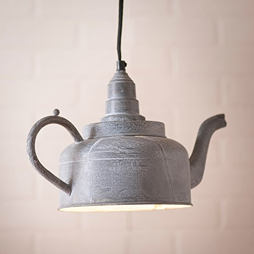 Kettle Pendant in Weathered Zinc (Zinc Outdoor Table Dining)