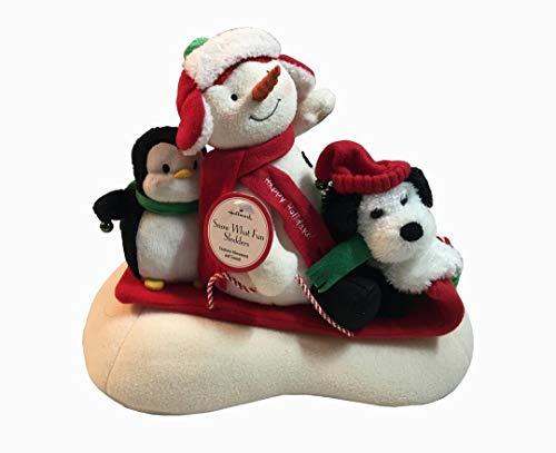 (Hallmark 2007 Snow What Fun Sledders Techno Plush Animated Snowman )
