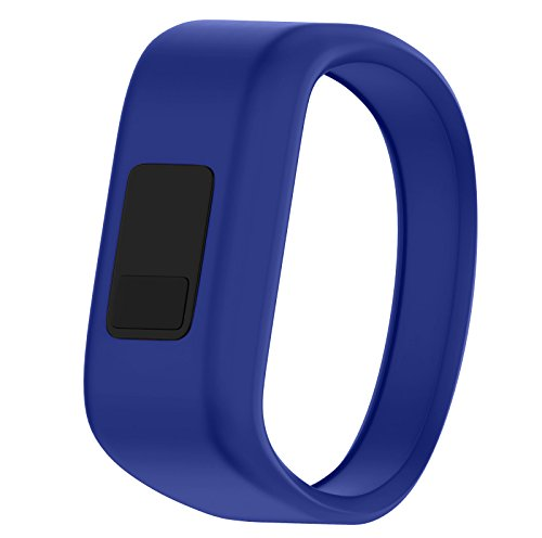 QGHXO Band for Garmin Vivofit Jr/Vivofit Jr. 2, Soft Silicone Replacement Watch Band Strap for Garmin Vivofit Jr/Vivofit Jr. 2 Activity Tracker, Small, Large (Royal Blue, Small: 5.7)