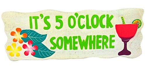 Its-5-Oclock-Somewhere-Wooden-Wall-Decor-Sign-22-Inches-Long