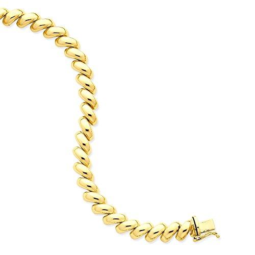 Icecarats Créatrice De Bijoux 14K San Marco Bracelet En 7 Pouces