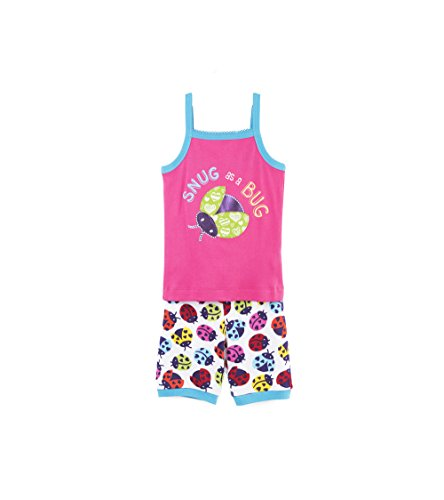 Hatley Girls' Little Organic Cotton Tank Pajama Sets, Rainbow Ladybirds, 6 - Hatley Set Pj