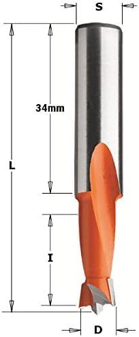 Broca ciega para taladradoras hm d=8x57.5 s=10x20 sx CMT 308.080.12