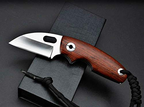 (Toucan) Cocobolo Wood D2 Stainless Steel Pocket Folding Knife, Limited Edition, Best Choice for Survival, Camping, Craft, Gardening or Outdoor -