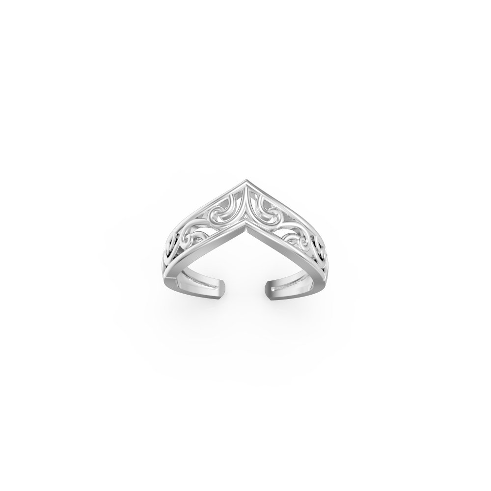 SilvernshineJewels Zig Zag sterling Silver Plated 925 Foot Adjustable Women's Toe ring Jewellery 1