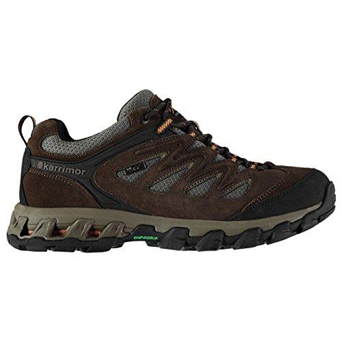 Karrimor Mens Merlin Low Walking Shoes Waterproof Lace Up Breathable Comfortable Brown pnIP3L