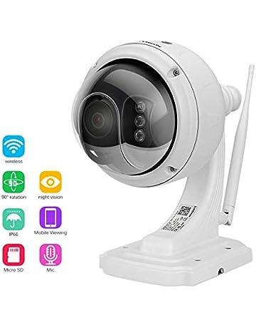 FLOUREON Caméra de Sécurité sans Fil Caméra IP PTZ Extérieur 1080P Caméra  de Surveillance Etanche PTZ 4e6547555c85