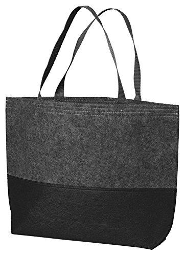 Cheap Port Authority Colorblock Large Felt Tote Bag_Ft Char/Black_One Size