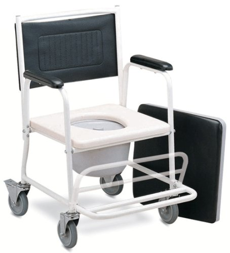 Medmobile Pediatric Shower and Commode Wheelchair With Folding Footrest and Locking Castors by MedMobile