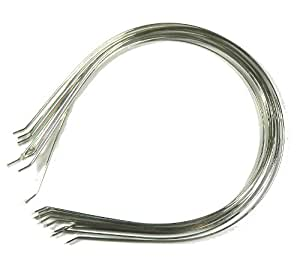 Rockin Beads Brand, 48 Steel/nickel Tone Metal Childs Headbands Hair Band Frames 5x6 Inch 3mm Wide,