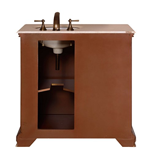 Silkroad Exclusive Single Right Sink Bathroom Vanity with Furniture Cabinet, 36-Inch by Silkroad Exclusive (Image #5)