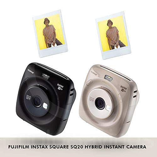 Fujifilm Instax Square SQ20 Hybrid Instant Camera (Black) - Deluxe Accessory Bundle with 40 Sheets of Instant Film + 16GB Micro sd Card + Case + Xpix Camera Strap and More. (USA Warrantty) by Fujifilm (Image #3)