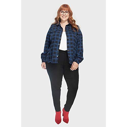 Calça Skinny Plus Size Preto-56