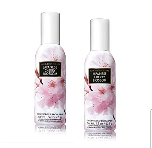 Bath and Body Works 2 Pack Concentrated Room Spray Japanese Cherry Blossom 1.50 Oz. ()
