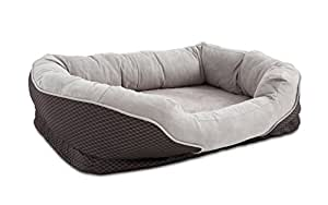 Amazon.com : Orthopedic Peaceful Nester Gray Dog Bed, 40