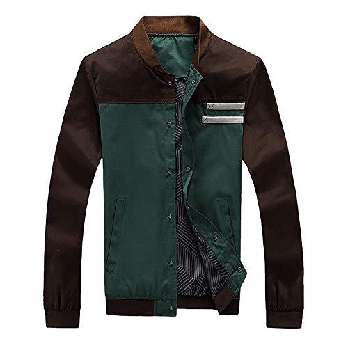 GOVOW Tracksuit Men Winter Autumn Winter Thicken Sweatshirt Top Pants Sets Sports Suit (US:16/CN:XXXL,ZH-Green) -