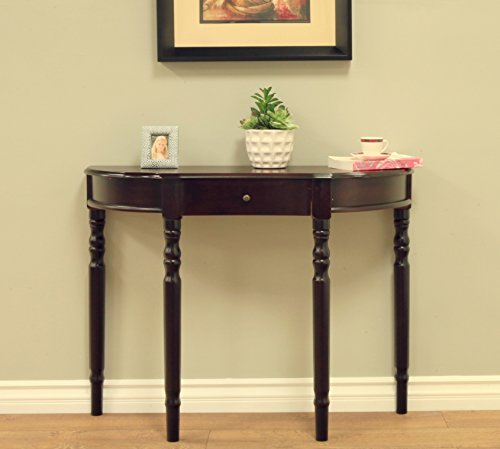 Frenchi Furniture Entry Way Console Table (Half Moon Hall Table)