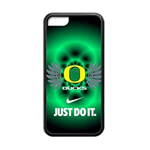 Hoomin NCAA Oregon Ducks Green Background iPhone 5C Cell Phone Cases Cover Popular Gifts(Laster Technology) by mcsharks