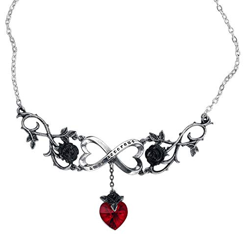 Alchemy Gothic Infinite Love Necklace Silver-Coloured