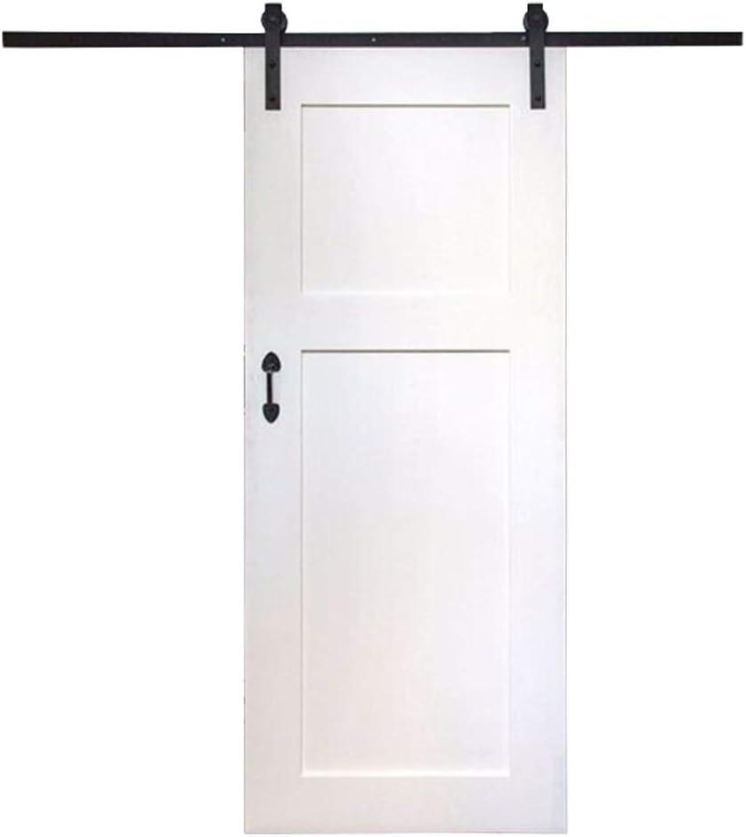 Armario corredera de una hoja Kit, de madera de la corredera de una hoja de acero/doble puerta de hardware vía de rodillos, puerta corrediza de bypass kit de pista: Amazon.es: Bricolaje y