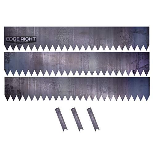 (Edge Right - Hammer-in Landscape Edging - 48 inch Strips - 14-Gauge Cor-Ten Steel - 8 inch Depth (3 Pack))