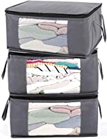 ABO Gear Storage Bins Storage Bags Closet Organizers Sweater Storage Clothes Storage Containers with Handle 3pc...