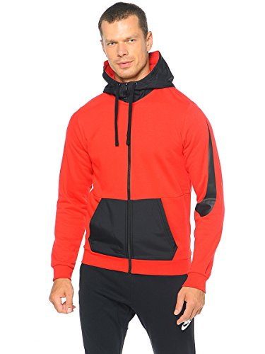 Nike Men's Sportswear Advance 15 F/Z Hoodie 804714 (X-Large, Gym Red/Black)