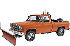 Rev7222 GMC pickup w/ snow plow model kit by revella snow plow mounted to the front of a pickup truck is a common sight every winter. Featuring four wheel drive and a 350 cubic inch V-8 engine, It does not take long for this GMC pickup to cle...
