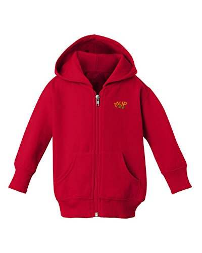 roidered Baby Kid Child Toddler Zip Fleece Hoodie Red 5T_6T (Fleece Embroidered Basketball)