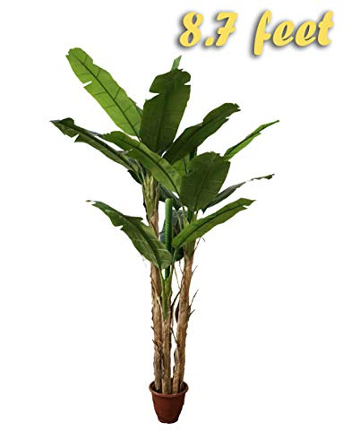 UV Protection AMERIQUE Gorgeous /& Unique 6 Feet Royal Hawaiian Elephant Ear Artificial Plant with Giant Leaves Feel Real Technology 6 Green