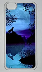 Diy iphone 5 5s case DIY Hard Shell Transparent Best PersonalityIphone 5 5S Gray Wolf By The Lake