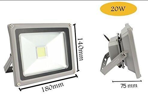 LED Refletor led 110V 220V 85-265V LED flood light outdoor lighting 10W 20W 30W 50W 100W LED floodlight COB spotlight lamp light with Underwriter Laboratories Inc (White 20W)