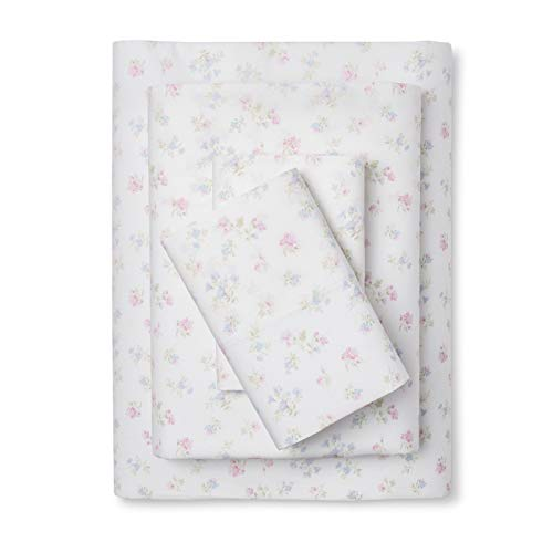 (Simply Shabby Chic Ditsy Floral - Twin Size (Cotton) White Background)