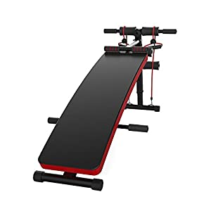 JUFIT Sit Up Bench Adjustable Workout Ab Abdominal Exercise Bench Board Black