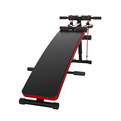 Abdominal+Machine Products : JUFIT Sit-up Bench,Adjustable Workout Muti-functional ABS Abdominal Exercise Crunch Board BLACK