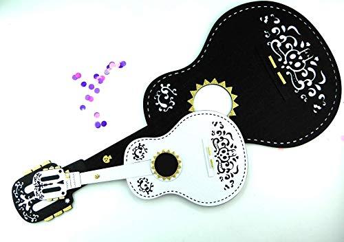 Cardboard guitar glitter foamy coco inspired guitar day of the dead -