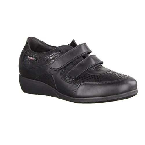 Mobils MEPHISTO JENNA Mocassini in velcro, da donna, colore: nero / black 5,5 EU