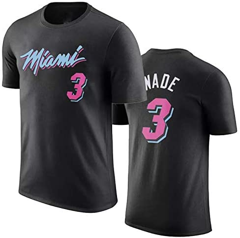 Camiseta De Baloncesto para Hombre Calentamientos De Miami Dwyane Wade Swingman Camisa Temporada De Verano Mangas Cortas Ropa para J/óvenes Sudaderas-XXXL 4 Colores