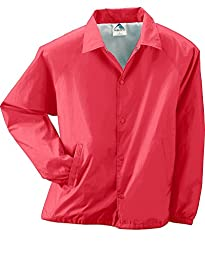Augusta Sportswear mens Lined Nylon Coach\'s Jacket(3100)-RED-5XL