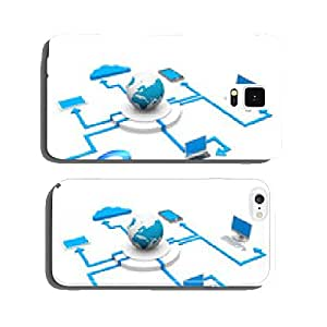 Cloud computing devices cell phone cover case iPhone5