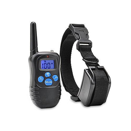 homeled-330-yards-remote-dog-training-collar-rechargeable-and-waterproof-lcd-screen-shock-collar-bee